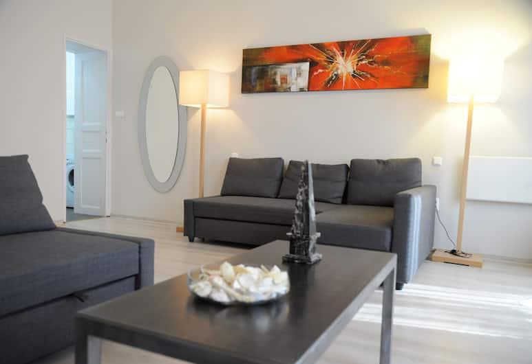Budapest Easy Flats- Operetta Lux Apartment, Budapeszt, Apartament, 2 sypialnie, pokoje połączone, Salon