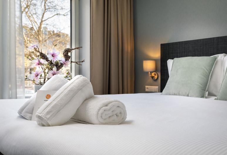 NL Hotel District Leidseplein, Amesterdão, Quarto Comfort, 1 cama de casal, Vista Canal, Quarto