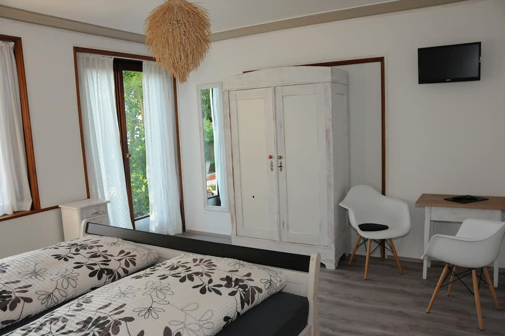 غرفة مزدوجة - بشرفة - منطقة المعيشة