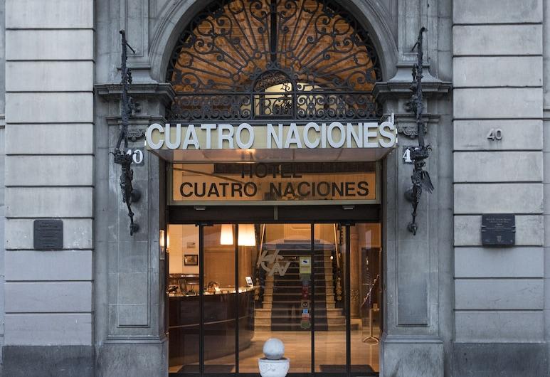 Cuatro Naciones, Barcelona, Fachada do hotel