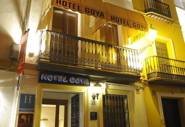 Hotel Goya, Seville, Hotel Front – Evening/Night