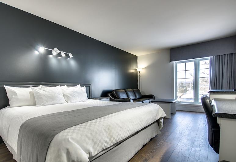 Hotel Marineau Shawinigan, Shawinigan, Quarto Clássico, 1 cama king-size (1st floor, no elevator), Quarto