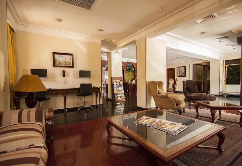 Hotel Principado de Asturias, Santiago, Priestory na sedenie v hale