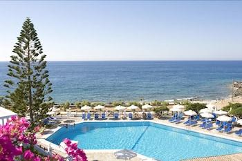 Mynd af Maritimo Beach Hotel í Agios Nikolaos