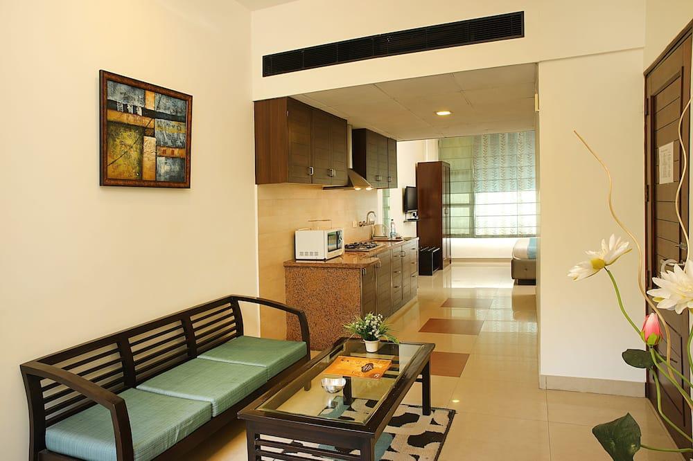 Business Studio, 1 Bedroom, Accessible - Living Room