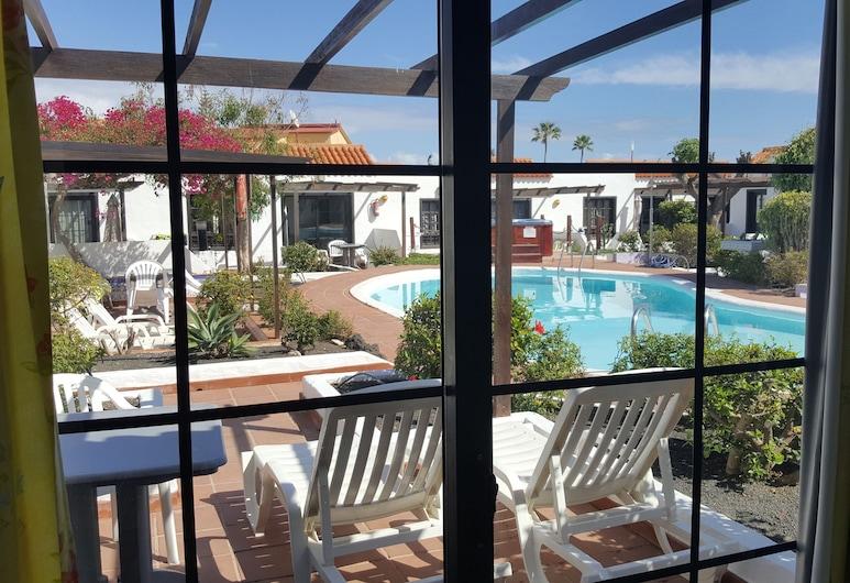 La Concha del Mar Apartments, La Oliva, Apartment, 1 Doppelbett oder 2 Einzelbetten, Terrasse, Poolseite (Apartment 7 with private terrace), Terrasse/Patio