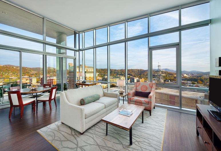 Hotel Indigo Asheville Downtown, Asheville, Suite, 1 king size krevet, balkon (Penthouse), Soba za goste