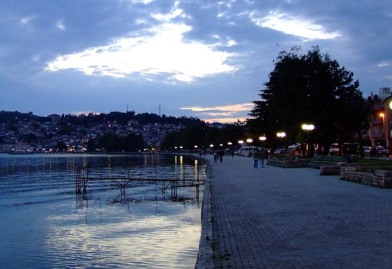 Tino Hotel Ohrid, Ohrid, Vue sur la plage/la mer