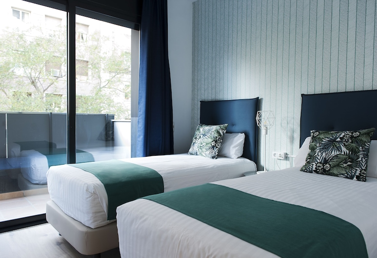 MH Apartments Sant Pau, Barselona, Standard Dubleks, 2 Yatak Odası, Oda