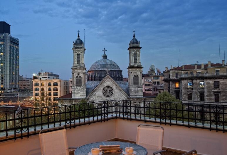 Triada Hotel, Istanbul, Ateliérový apartmán typu Executive, Terasa