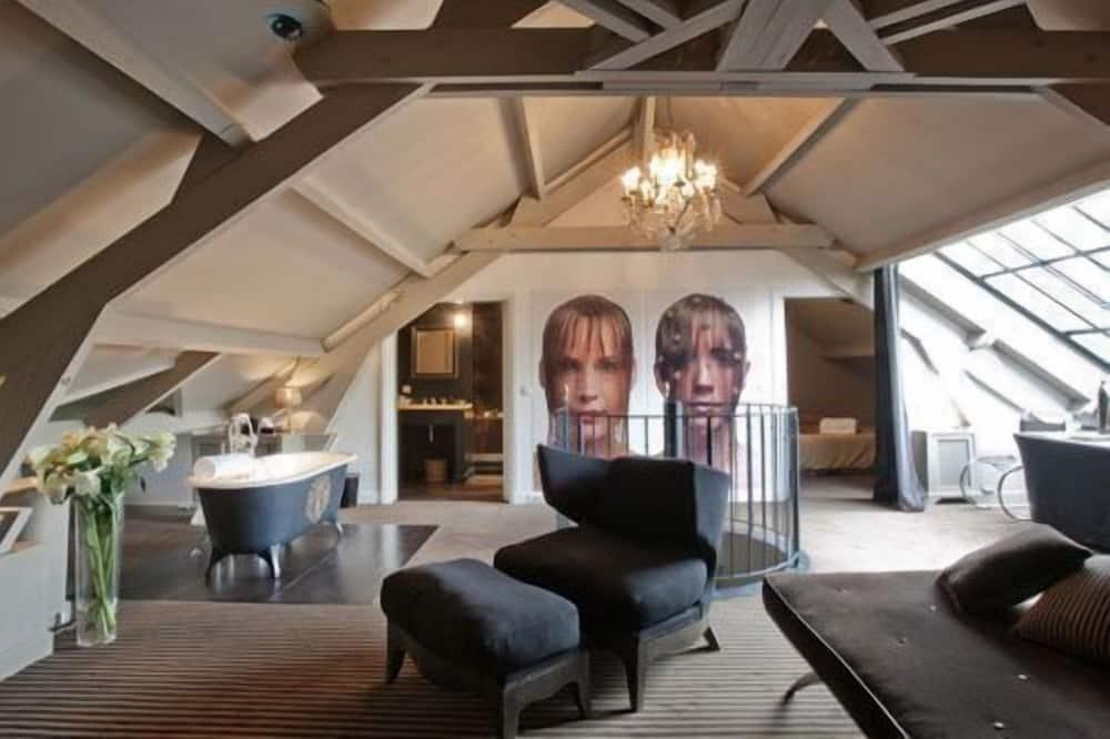 Suite de lujo, vistas al jardín - Sala de estar