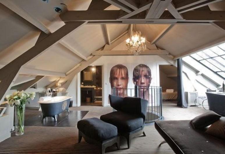 Hotel Particulier Montmartre, Paris, Luxury Suite, Garden View, Living Room