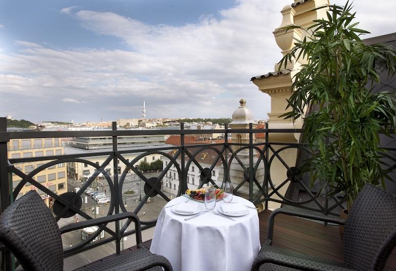 Hotel Kings Court, Praga, Tower Duplex Suite (Free SPA entrance & Executive Lounge), Varanda