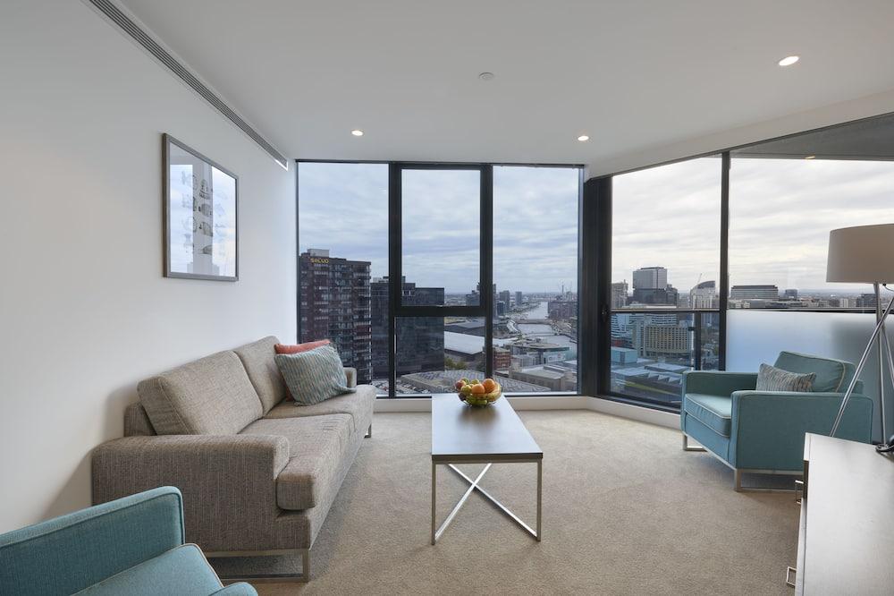 Appartamento Executive, 2 camere da letto, vista città - Area soggiorno