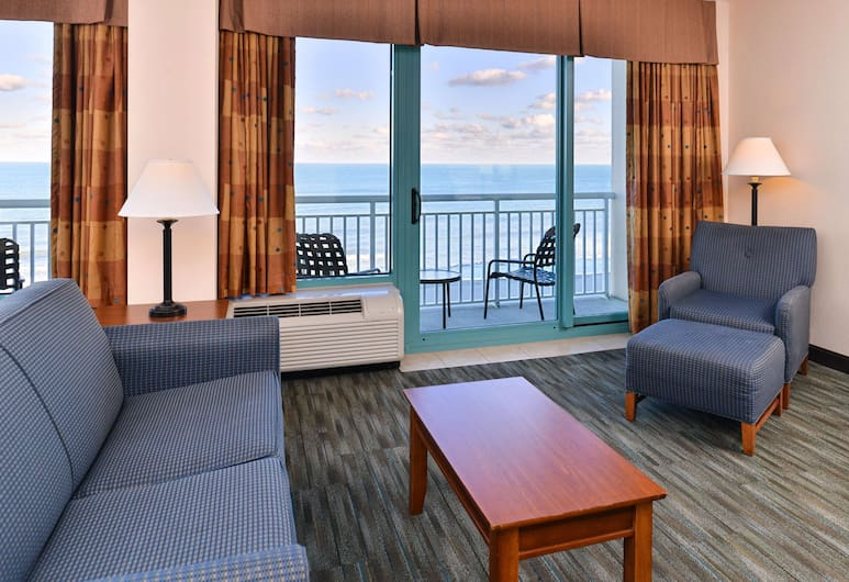 Hampton Inn Virginia Beach-Oceanfront South, Virginia Beach, Double Room, Living Area