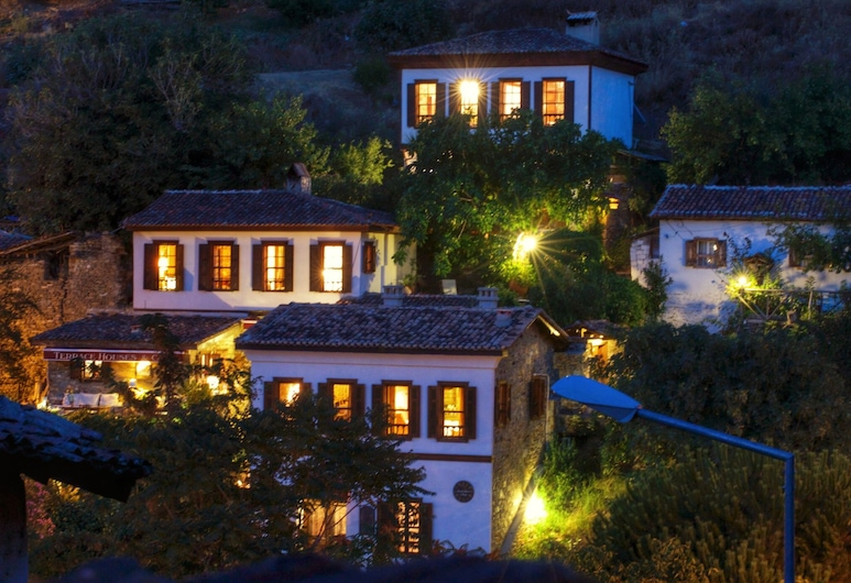 Terrace Houses Sirince - Fig, Olive and Grapevine, Selcuk, Voorkant hotel - avond/nacht