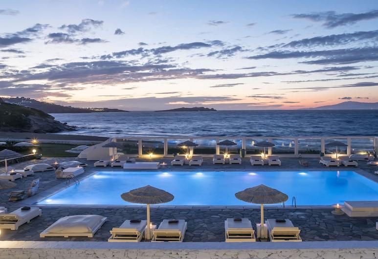 Mykonos Bay Resort & Villas, Mykonos, Hotel Front – Evening/Night