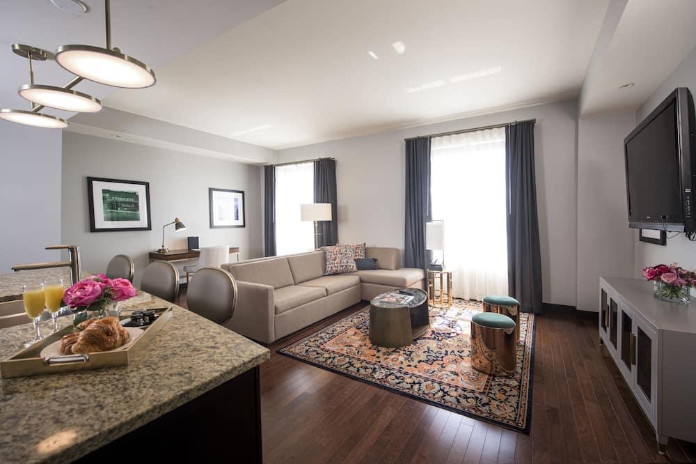 Numeris, 1 labai didelė dvigulė lova ir sofa-lova (Mayo ) - Svetainės zona