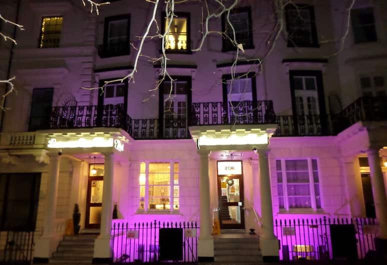 Lancaster Court Hotel, Londra, Facciata hotel (sera/notte)