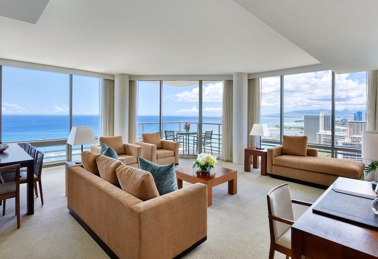 川普威基基海灘國際飯店, Honolulu, 尊榮套房, 3 間臥室, 海濱, 客房