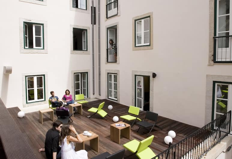 Hotel Gat Rossio, Lisabon, Terasa/trijem