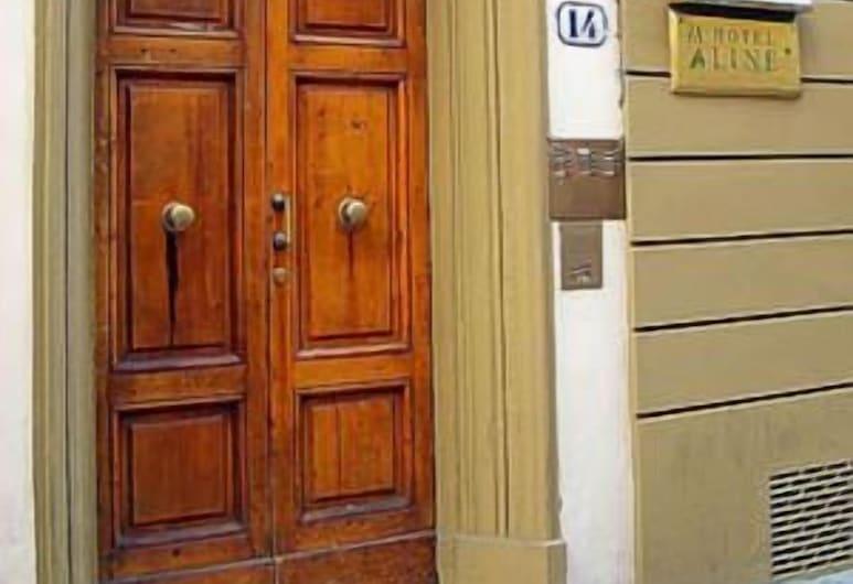 Hotel Aline, Florence, Hotel Entrance