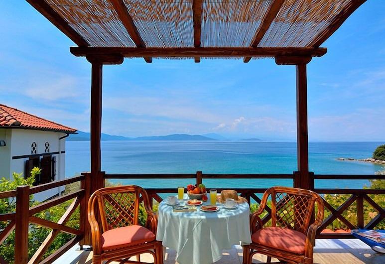 Diplomats Holidays, South Pelion, Departamento, vista al mar, Terraza o patio