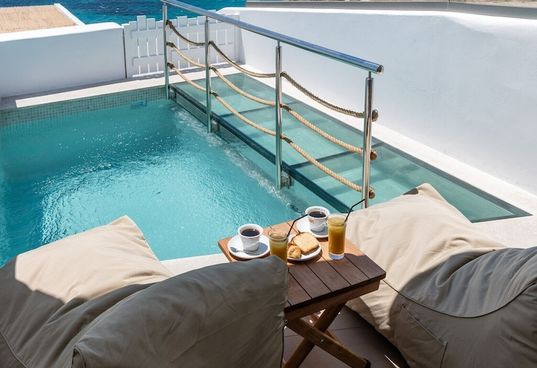Avra Mykonos, Mykonos, Deluxe Double Room, Private Pool, Sea View, Private pool