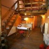 Dúplex Confort, 1 cama Queen size con sofá cama, cocina básica, vista a la montaña - Sala de estar