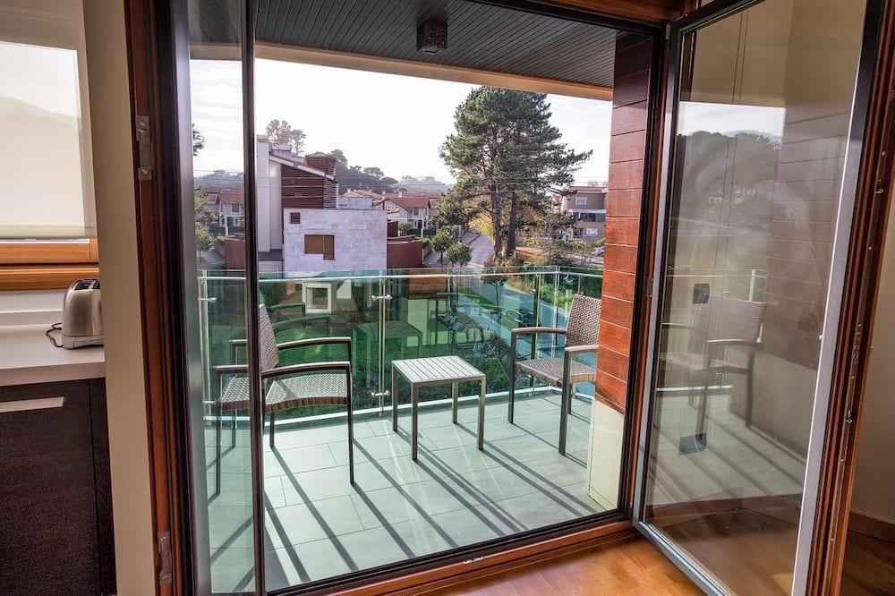 Deluxe-Apartment, 1Doppelbett und Schlafsofa - Balkon
