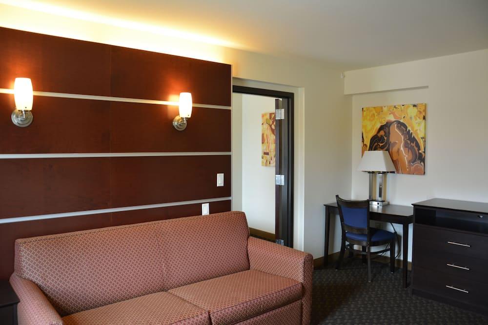 Lakosztály, 1 hálószobával, nemdohányzó (1 King Bed) - Nappali rész