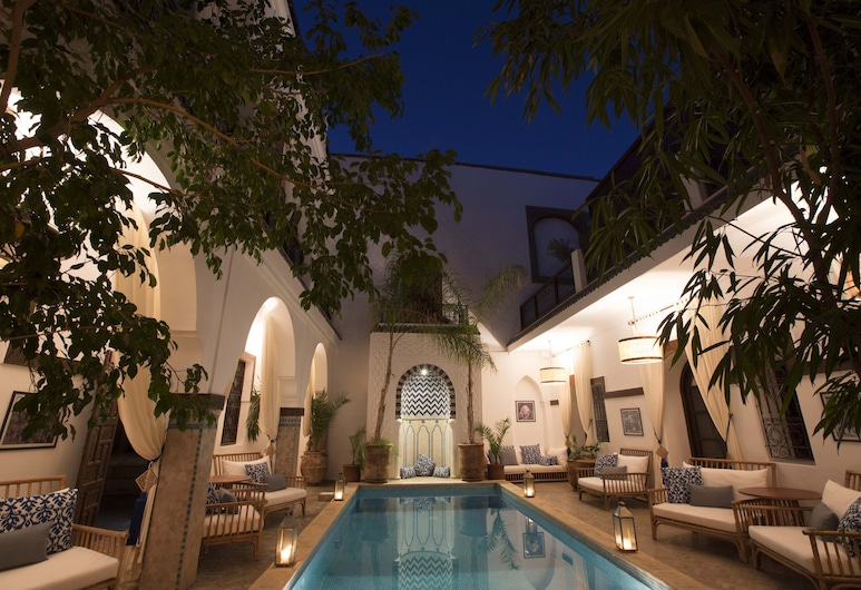 Riad Dar Alfarah, Marrakech, Piscina Exterior