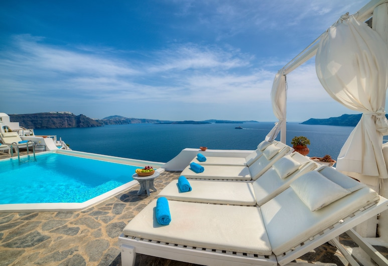 Kima Villa, Santorini, Suite (Cave), Utsikt fra gjesterommet