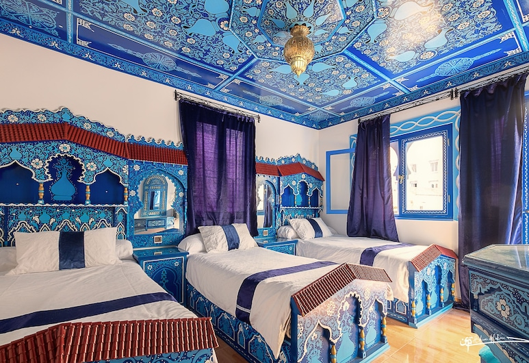 Hotel Madrid, Chefchaouen, Háromágyas szoba, Vendégszoba