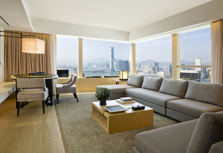 The Upper House, Hong Kong, Suite, Harbor View, Living Room