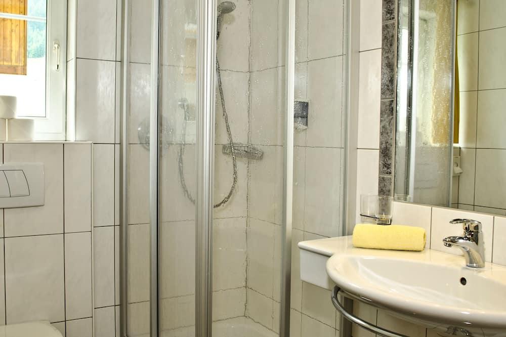 apartman, 2 hálószobával, erkély, kilátással a hegyre (Madlein 4-5 Personen) - Fürdőszoba