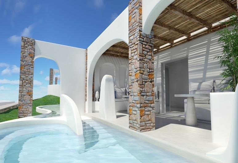 Aloni Hotel, Paros, Elegant Suite Private Pool, Terrace/Patio