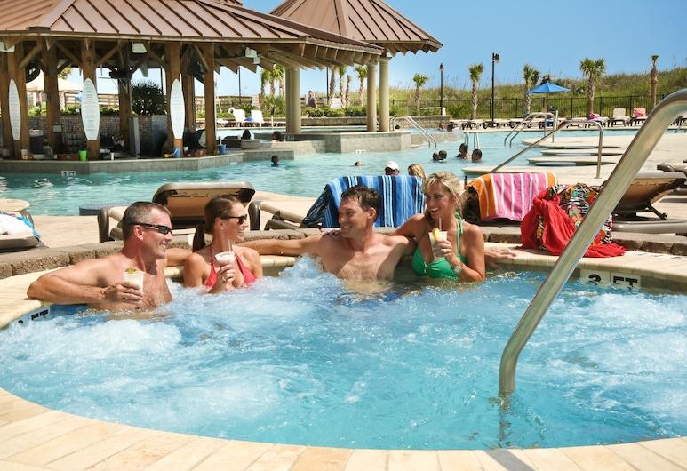 North Beach Resort & Villas, North Myrtle Beach, Tina de hidromasaje al aire libre