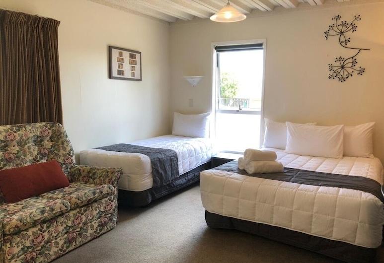 Saddle and Sulky Motel, New Plymouth, Rodinný pokoj, nekuřácký, kuchyně (One bedroom), Pokoj