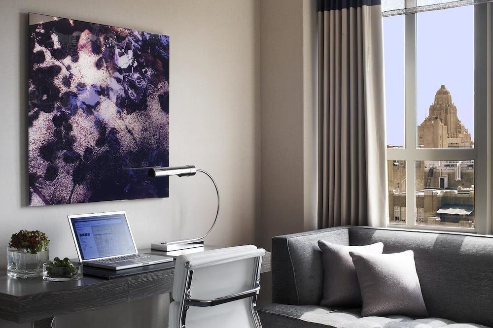 Kambarys, 1 labai didelė dvigulė lova, vaizdas į miestą (SPA) - Svetainės zona