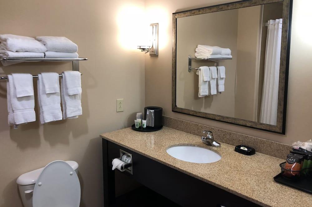 Apartmá, dvojlůžko (200 cm) a rozkládací pohovka, bezbariérový přístup, vana (with Sofabed) - Koupelna