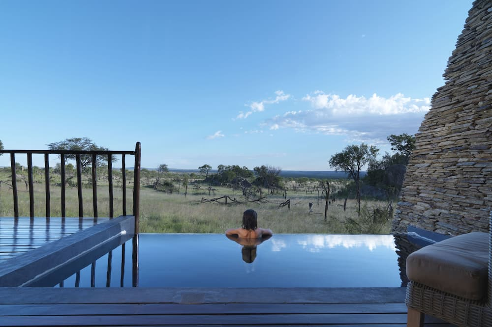 Suite, 1 kingsize bed, terras (Water Hole View) - Terras
