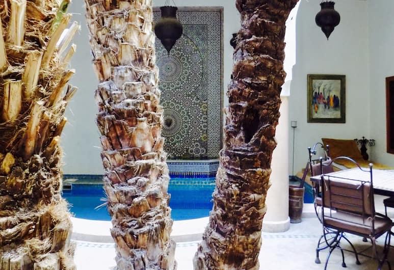 Riad Les Trois Palmiers El Bacha, Marrakech, Basen