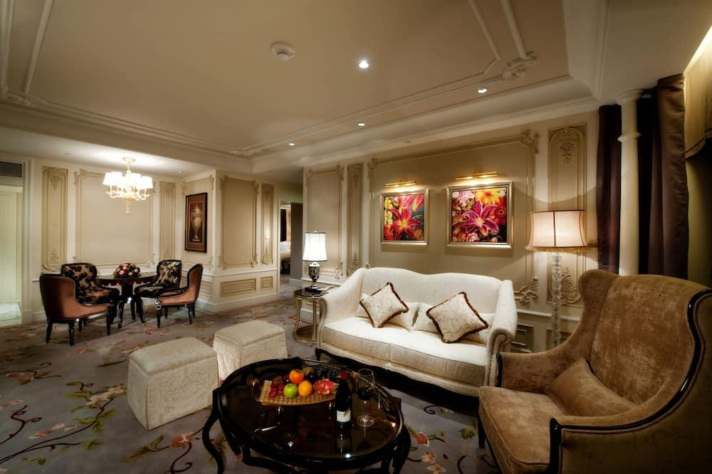 套房, 1 張特大雙人床, 吸煙房 - 客廳