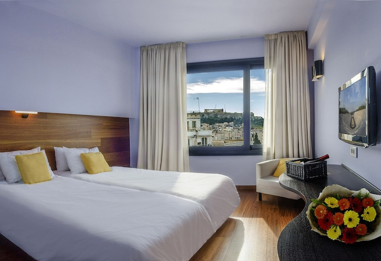 Athens Center Square Hotel, Athens, Deluxe Room (Acropolis View), Guest Room
