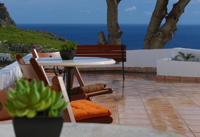 Little Lindos Sea View Studios, Rhodes, Terrace/Patio