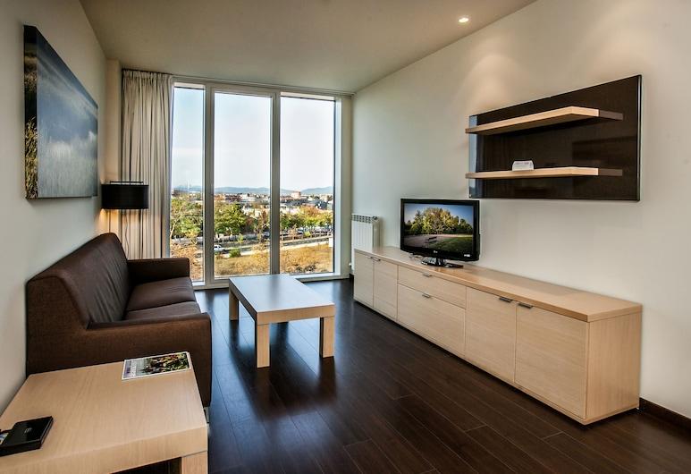 Hotel Jardines de Uleta Suites, Vitoria-Gasteiz, Suite, 1 letto matrimoniale con divano letto, vista città, Soggiorno