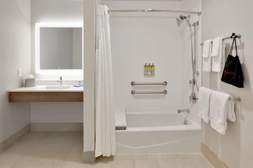 標準客房, 2 張加大雙人床, 無障礙 (Mobil Tub) - 浴室