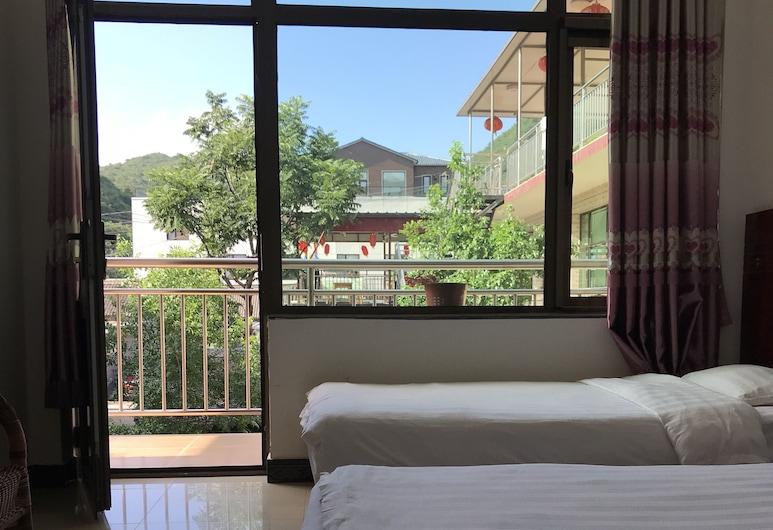 Water Great Wall Heshi Mountain House, Huairou, Standardní pokoj se dvěma jednolůžky, Pokoj