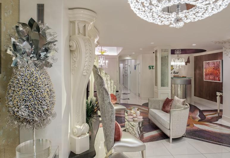 Staypineapple, An Artful Hotel, Midtown, Nueva York, Sala de estar en el lobby